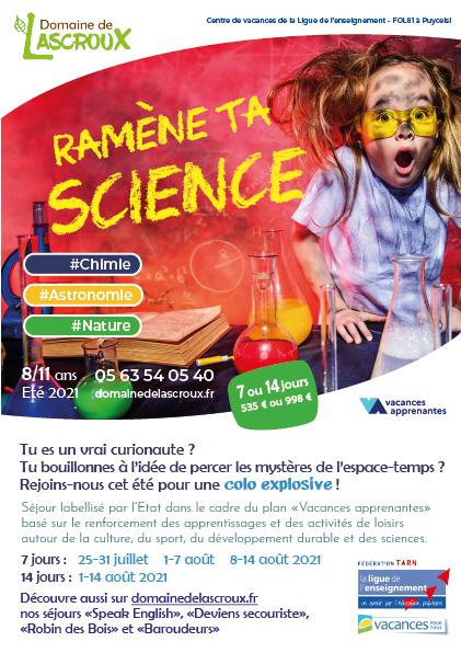 Colo Ramene ta science - Eté 2021 - Lascroux FOL81